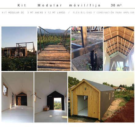 Vivienda modular 3x12: Casas de estilo industrial por Estudioeco21