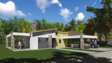 modern Garage/shed by Estudio de arquitectura MSM  (Mar del Plata+Balcarce+Tandil)