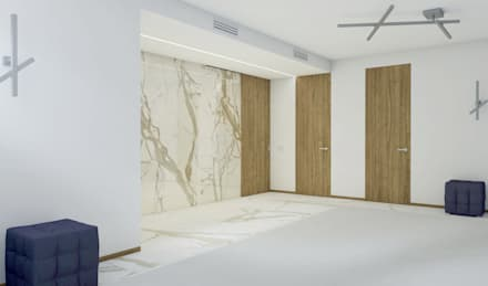 Зал для занятий тайским боксом: Тренажерные комнаты в . Автор – Laboratorio Creativo di Vladimir Lamfadel