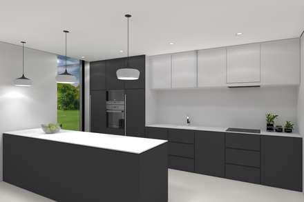 Projeto Ametista: Cozinhas modernas por Magnific Home Lda