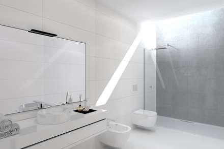 Projeto Ametista: Casas de banho modernas por Magnific Home Lda