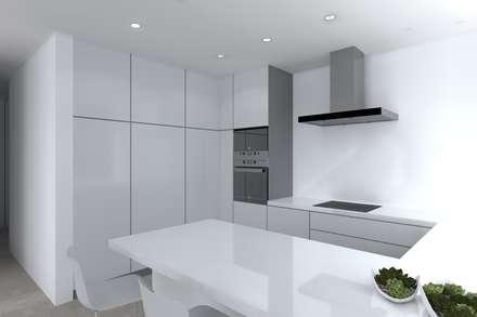 Projeto Jaspe: Cozinhas modernas por Magnific Home Lda