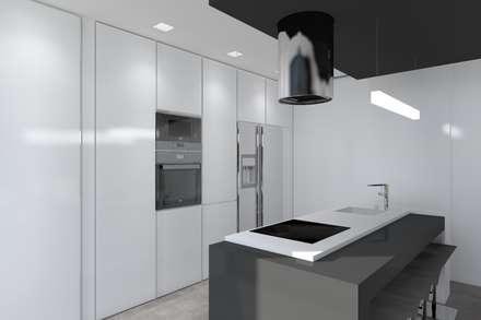Projeto Quartzo: Cozinhas modernas por Magnific Home Lda