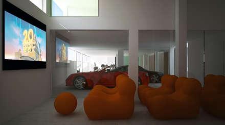 Siesta Twin House: Garajes de estilo minimalista de Zucchero Architects