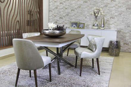 Sala de Jantar moderna: Salas de jantar modernas por Glim - Design de Interiores Lda