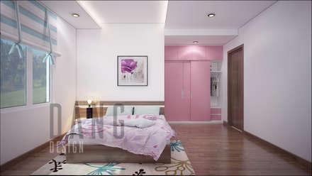NHÀ LÔ PHỐ:  Phòng ngủ by DCOR