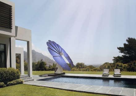 """Smartflower - O primeiro sistema de energia solar """"all in one"""" do Mundo: Jardins modernos por Magnific Home Lda"""