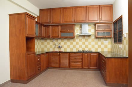 U  Shaped Kitchen Designs For Indian Homes: Asian Kitchen By Scale Inch Pvt.