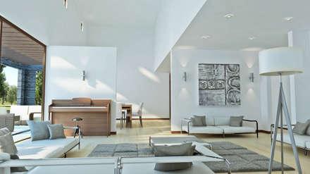 Casa Grilli: Livings de estilo mediterraneo por AOG SPA