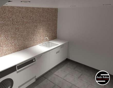 Lavandaria: Garagens e arrecadações modernas por André Terleira - Arquitectura e Construção