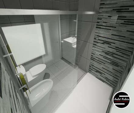 Casa de Banho Suite: Casas de banho modernas por André Terleira - Arquitectura e Construção