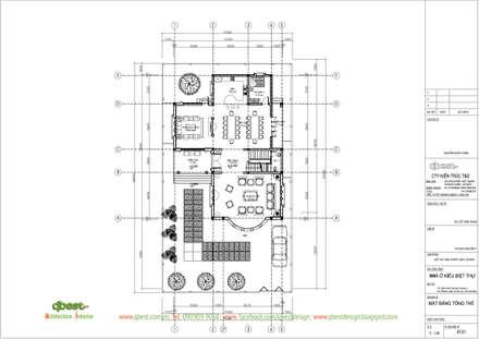 Mặt bằng tổng thể:  Biệt thự by Công ty TNHH Thiết Kế và Ứng Dụng QBEST