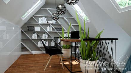 Soczyste Mareno: styl , w kategorii Domowe biuro i gabinet zaprojektowany przez Home Atelier
