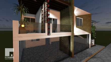 colonial Garage/shed by Romarq. Diseño y construcción
