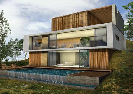 Casa Miravalle Buga: Casas de estilo moderno por COLECTIVO CREATIVO