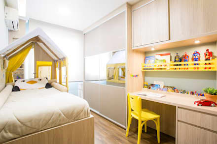 rustic Nursery/kid's room by Join Arquitetura e Interiores