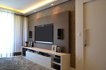 Apartamento Verena: Salas de estar modernas por Join Arquitetura e Interiores