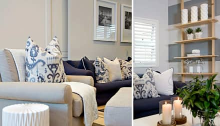 Recent Decorating Projects - Joseph Avnon Interiors: classic Media room by Joseph Avnon Interiors