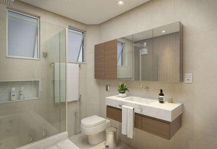 Banheiro Suíte: Banheiros minimalistas por Filipe Castro Arquitetura | Design