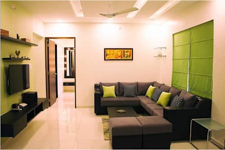 Some Previous Works: minimalistic Living room by BVM Intsol Pvt. Ltd.