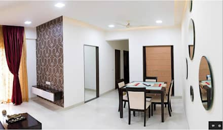 Some Previous Works: minimalistic Dining room by BVM Intsol Pvt. Ltd.