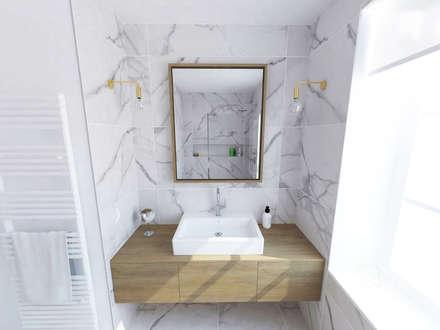 Création d'un appartement dans un ancien couvent - SdB: Salle de bain de style de style Classique par La Fable