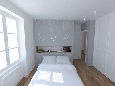 Création d'un appartement dans un ancien couvent - Chambre: Chambre de style de style Scandinave par La Fable