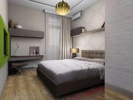 Квартира на Ягодной улеце: Спальни в . Автор – 'Мастерская интерьеров'