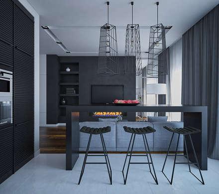 Минималистичная квартира в ЖК Солнечный: Кухни в . Автор – JoinForces studio