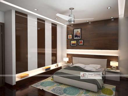 Villa at Jay Pee Greens Greater Noida : modern Bedroom by Design Essentials