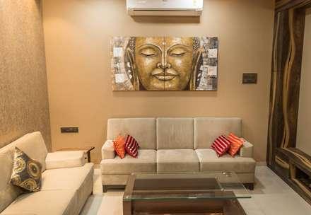 Rishi Villa - Pune: modern Living room by Aesthetica