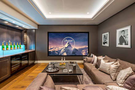 RBD Architecture & Interiors, Kensington & Chelsea project: classic Media room by RBD Architecture & Interiors