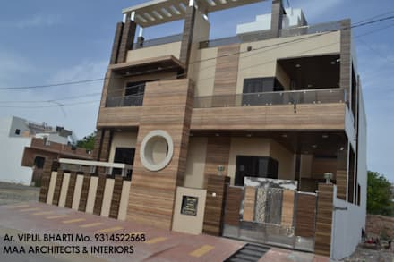 Prem Chelani ji: modern Houses by MAA ARCHITECTS & INTERIOR DESIGNERS