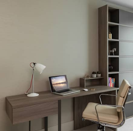Vauxhall riverside office guest bedroom modern study office by studio k design