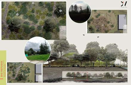 BIOREFUGIO COLEGIO LOS NOGALES: Jardines de estilo rural por concepto verde SAS