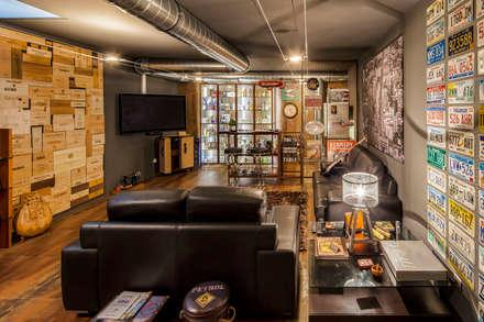 : Salas multimédia modernas por INAIN Interior Design