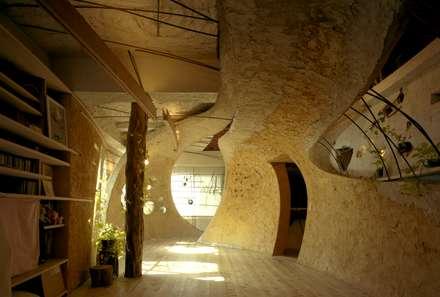 神田SU -ビルの中の土壁の家-  / nest house : 遠野未来建築事務所 /  Tono Mirai architectsが手掛けたリビングです。