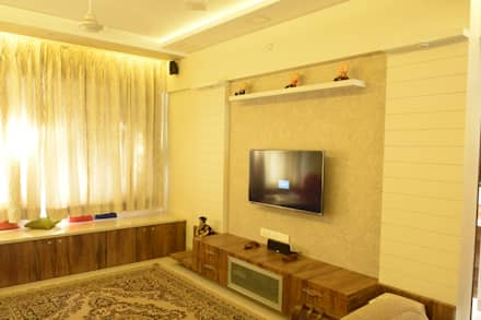 Residence turnkey Project: modern Living room by Vinayak Interior | Interior Designing and Decorator Companies