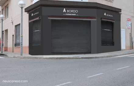 Proyecto de reforma A Bordo Restaurante Tarragona: Locales gastronómicos de estilo  de Neus Conesa Diseño de Interiores