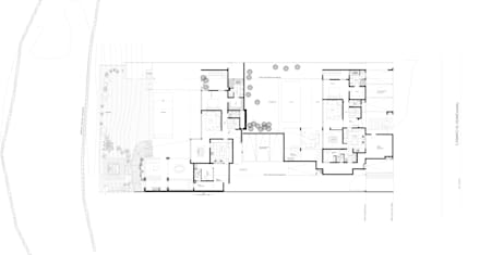 Plano conjunto: Casas de estilo mediterraneo por Carvallo & Asociados Arquitectos