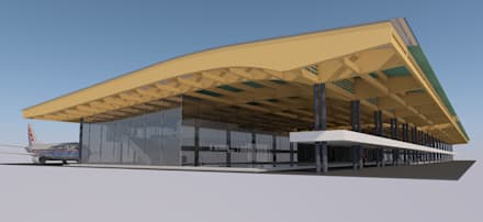 Terminal aéreo, Tarapoto, Perú (Propuesta): Aeropuertos de estilo  por MGR