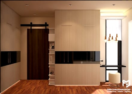 Walk in Closet:  Ruang Ganti by FerryGunawanDesigns