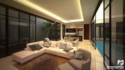 Living Room:  Ruang Keluarga by FerryGunawanDesigns