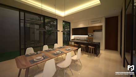 Dining and Pantry:  Ruang Makan by FerryGunawanDesigns