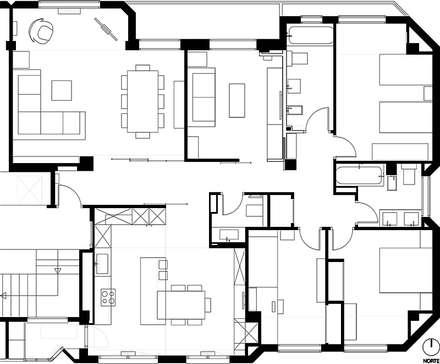 reforma de piso estilo industrial. logroño: Casas de estilo industrial de Rafael Hernáez Loza AITEC Proyectos