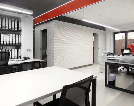Oficina Proviser. Nájera: Salas multimedia de estilo moderno de Rafael Hernáez Loza AITEC Proyectos