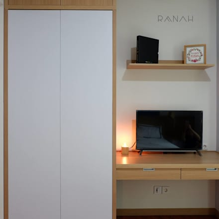 Studio Apartment - Woodland Park Kalibata:  Ruang Kerja by RANAH