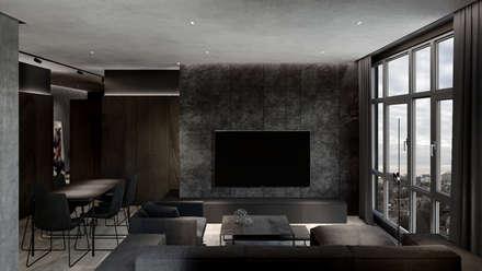 MENTAL ARC DESIGN – Oturma Odası: modern tarz Oturma Odası