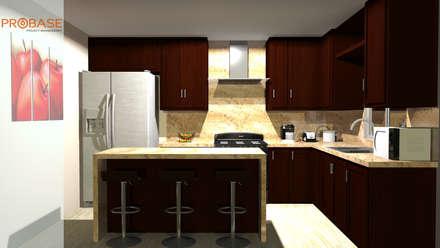 Corte de cocina : Cocinas de estilo moderno por Probase Project Management