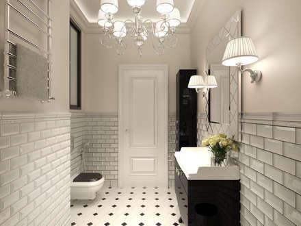 Этюд в розовых тонах: Ванные комнаты в . Автор – Дизайнер Светлана Юркова